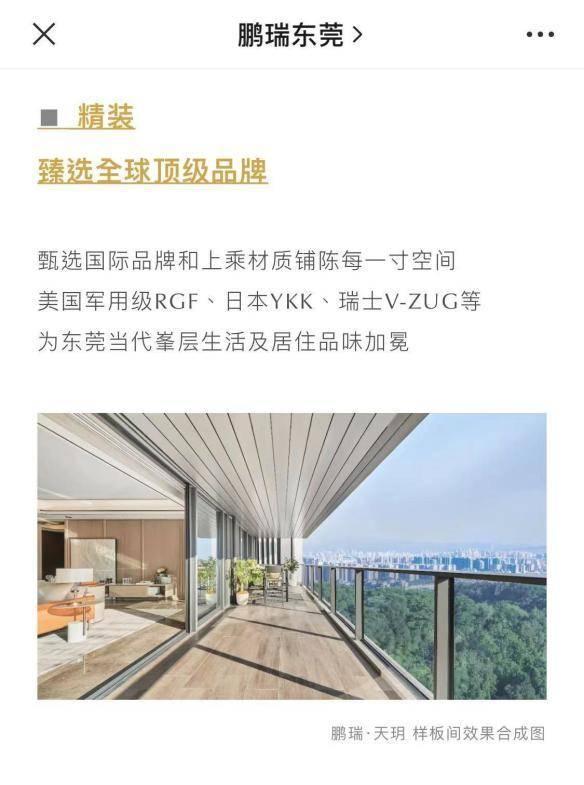 """东莞鹏瑞天玥涉嫌""""双合同""""违规销售"""